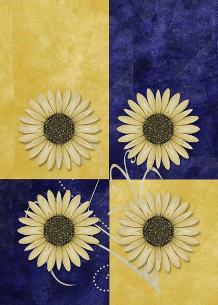 Fleur Digital Art - Daisy Quatro V09 by Variance Collections
