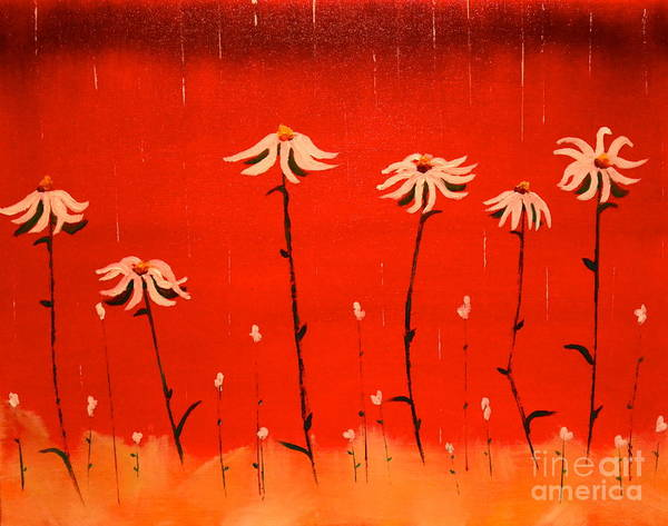 Painting - Daisy Rain by Denise Tomasura