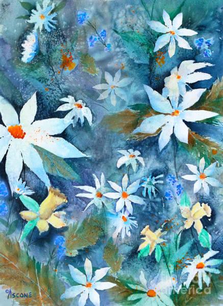 Wall Art - Painting - Daisy Tumble by Teresa Ascone
