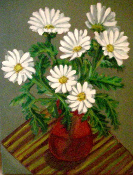 Wall Art - Painting - Daisy by Vera Lysenko