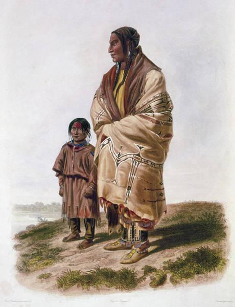Native American Blanket Painting - Dakota And Assiniboin by Granger