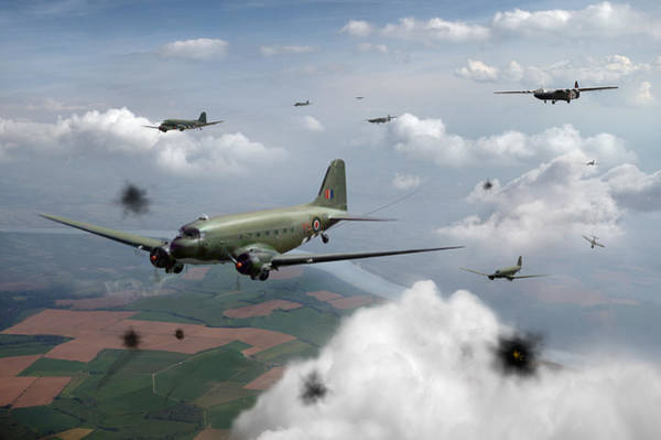 Digital Art - Dakotas And Horsas Over Arnhem by Gary Eason