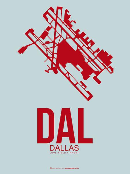 Dallas Digital Art - Dal Dallas Airport Poster 3 by Naxart Studio