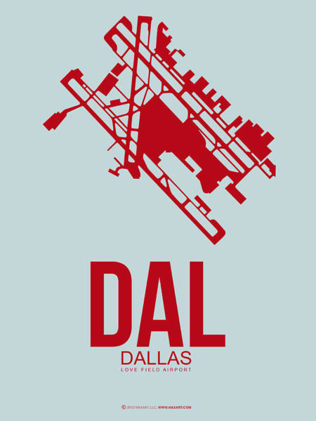 Dallas Digital Art - Dal Dallas Airport Poster 4 by Naxart Studio