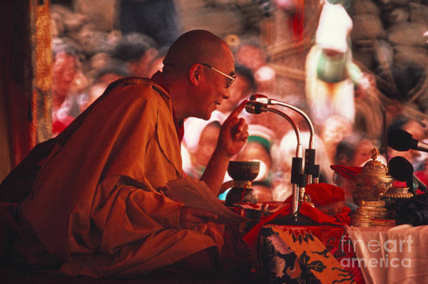 Notable Photograph - Dalai Lama, Nobel Prize 1989 by Kazuyoshi Nomachi