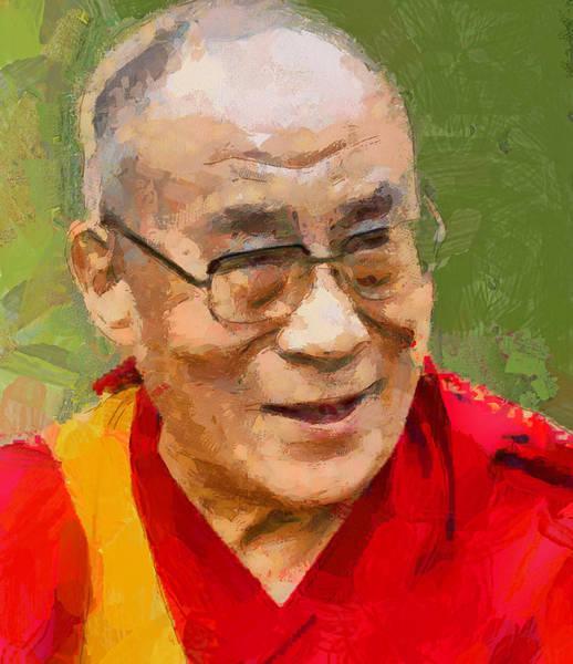 Dalai Lama Wall Art - Digital Art - Dalai Lama by Yury Malkov