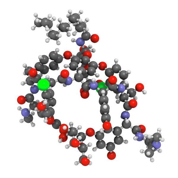 Pharma Wall Art - Photograph - Dalbavancin Glycopeptide Antibiotic Drug by Molekuul