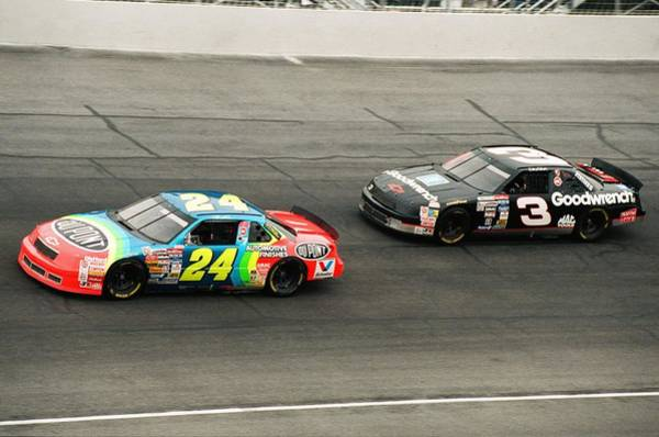 Daytona Photograph - Jeff Gordon And Dale Earnhardt by Retro Images Archive