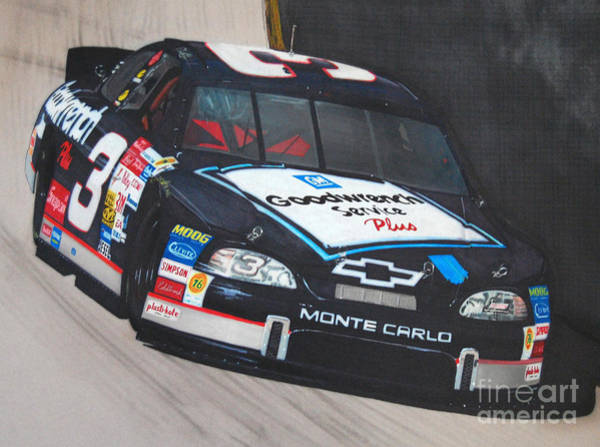 Chevrolet Drawing - Dale Earnhardt At Bristol by Paul Kuras