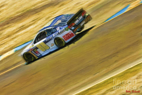 Photograph - Dale Earnhardt Jr.  On Three Wheels by Blake Richards