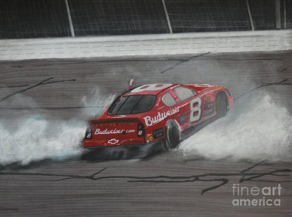 Chevrolet Drawing - Dale Earnhardt Junior Victory Burnout by Paul Kuras