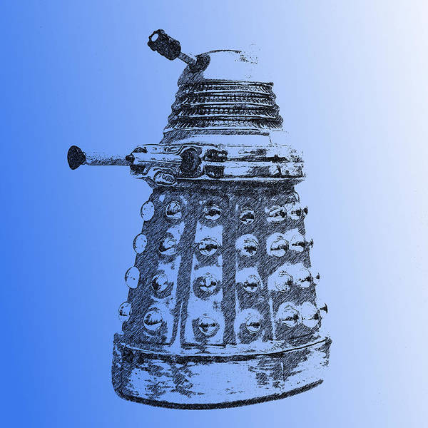 Photograph - Dalek Blue by Richard Reeve