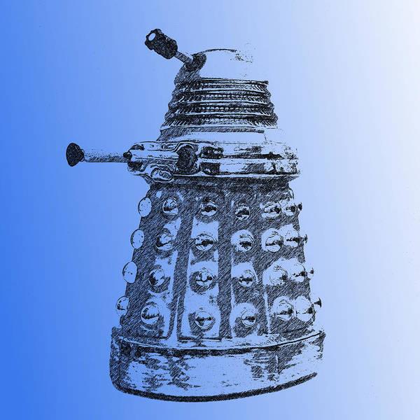Photograph - Dalek Blue by Richard Reeve
