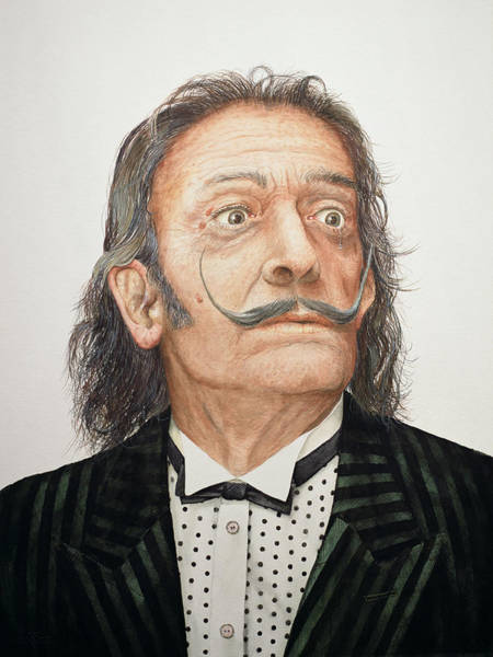 Salvador Photograph - Dali 1904-89 Wc On Watercolour Board by Trevor Neal