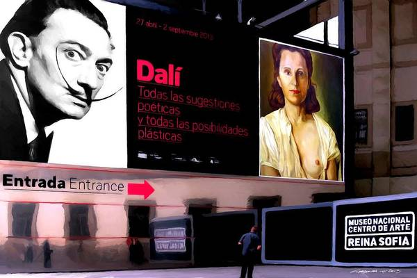 Digital Art - Dali Tribute - Exhibition 2013 Reina Sofia Museum by Gabriel T Toro