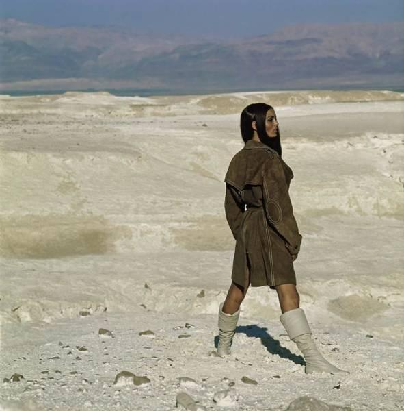 Jerusalem Photograph - Daliah Lavi Wearing A Beged-or Coat by John Cowan