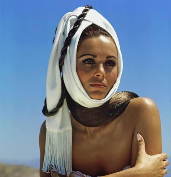 Jerusalem Photograph - Daliah Lavi Wearing A White Headscarf by John Cowan