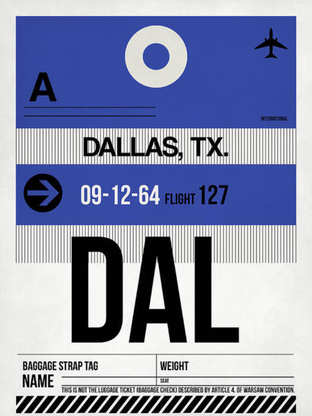 Dallas Digital Art - Dallas Airport Poster 1 by Naxart Studio