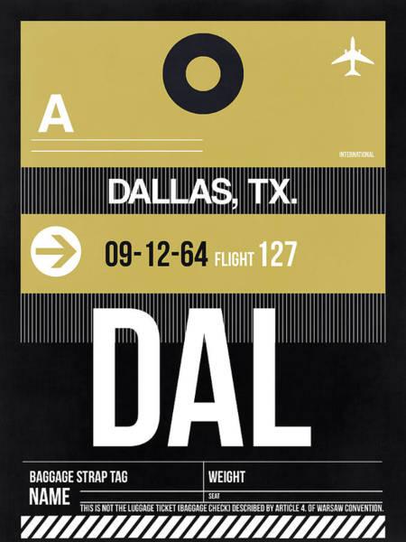 Dallas Digital Art - Dallas Airport Poster 2 by Naxart Studio