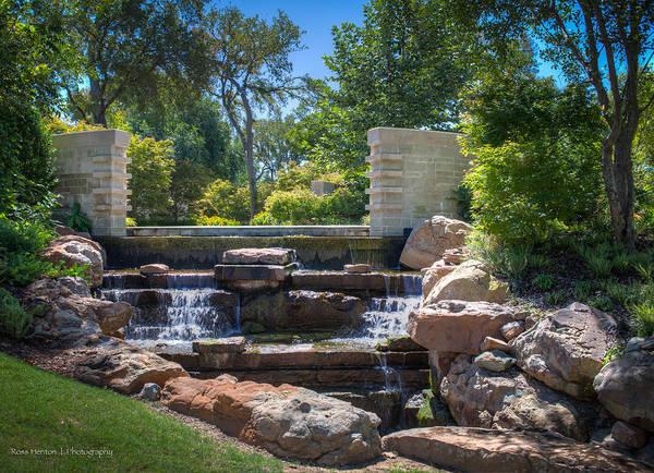 Photograph - Dallas Arboretum Waterfall by Ross Henton