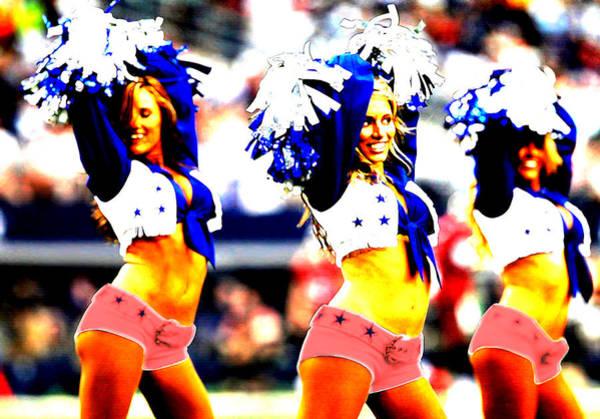 Cheerleaders Digital Art - Dallas Cowboys Cheerleaders by Brian Reaves
