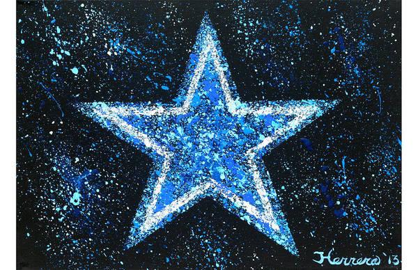 Pokes Wall Art - Painting - Dallas Cowboys by Tony Herrera