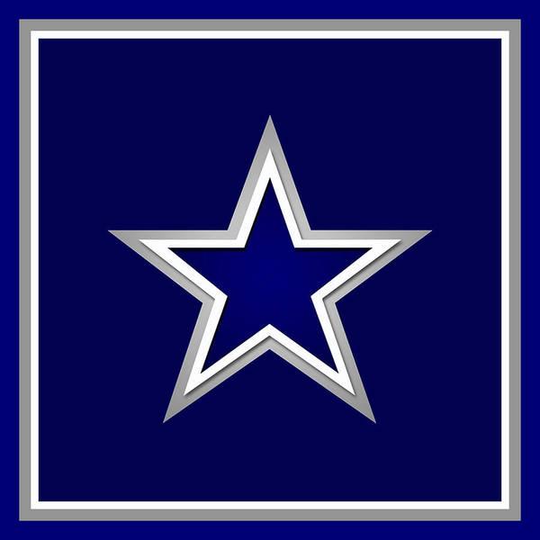 Painting - Dallas Cowboys by Tony Rubino