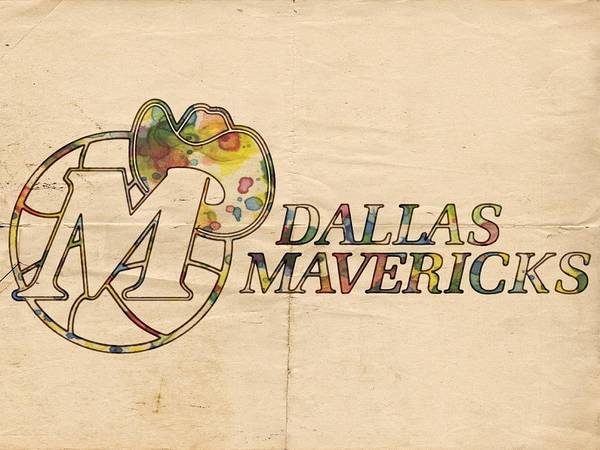 Slamdunk Painting - Dallas Mavericks Vintage Poster by Florian Rodarte
