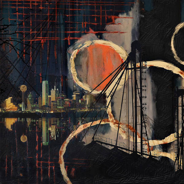 Houston Texas Painting - Dallas Skyline 002 by Corporate Art Task Force