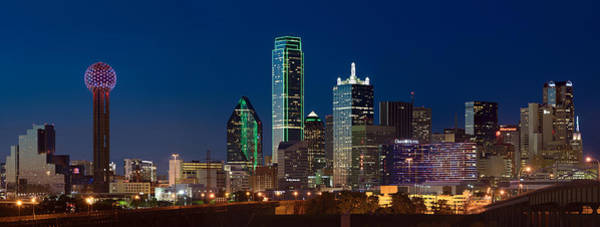 Photograph - Dallas Skyline Night 5 by Rospotte Photography