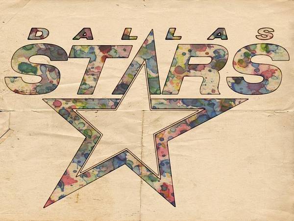 Painting - Dallas Stars Poster Art by Florian Rodarte
