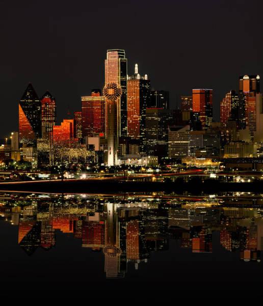 Us Southwest Photograph - Dallas Texas Night by Daniel Hagerman