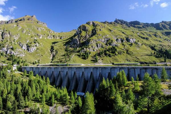 Psi Photograph - Dam And Lake Fedaia by Photostock-israel