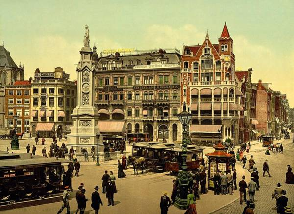 Photograph - Dam Square Amsterdam 1890 by Movie Poster Prints