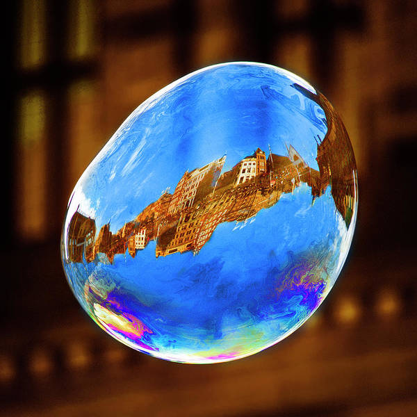 Bubbles Wall Art - Photograph - Dam Square, Amsterdam. by Saad Salem Al