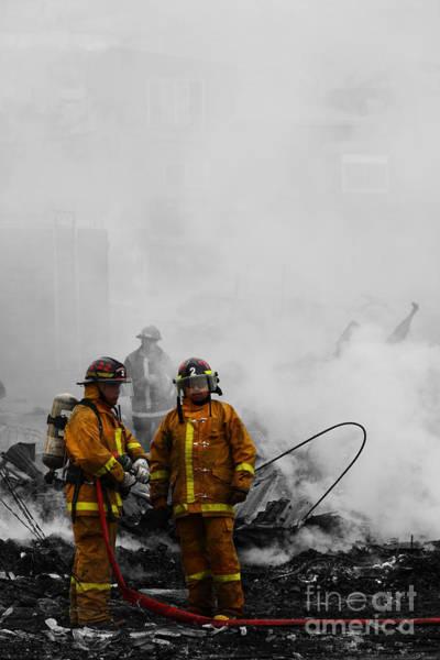 Photograph - Damage Assessment by James Brunker