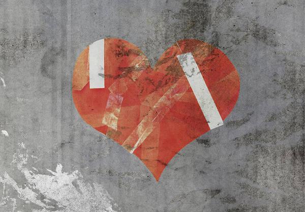 Heartbroken Digital Art - Damaged Heart On Old Paper by Ratchapon Yanyongdecha