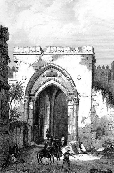 Damascus Photograph - Damascus Gate by Collection Abecasis/science Photo Library