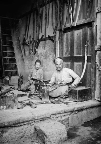 Damascus Photograph - Damascus Swordmakers by Granger