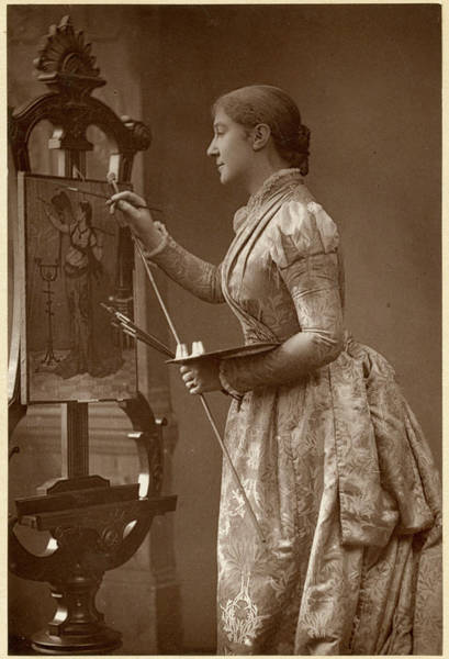 Wall Art - Painting - Dame Madge Kendal (1848 - 1935) by Mary Evans Picture Library