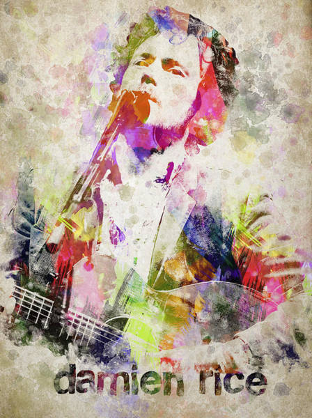 Wall Art - Digital Art - Damien Rice Portrait by Aged Pixel