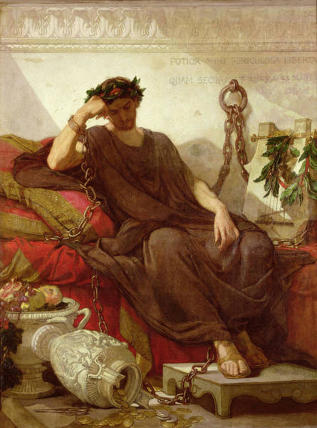 Wealth Painting - Damocles by Thomas Couture