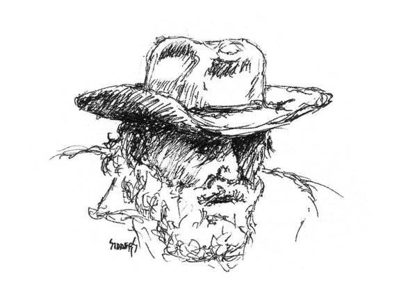 Drawing - Dan by Sam Sidders