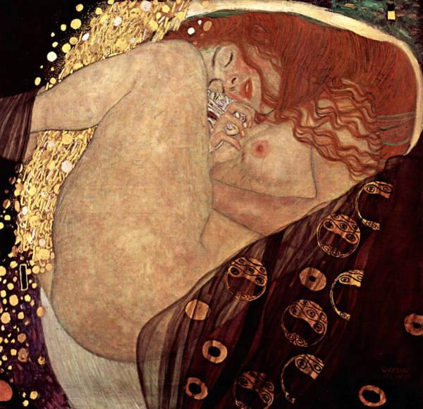 Boudoir Digital Art - Danae by Gustive Klimt