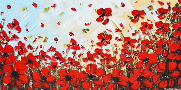 Wall Art - Painting - Dance Among Red Poppies by Christine Bell