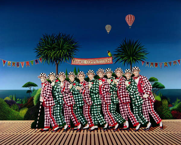 Wall Art - Painting - Dance Competition by Anthony Southcombe