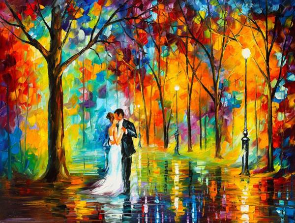 Palette Painting - Dance Of Love by Leonid Afremov