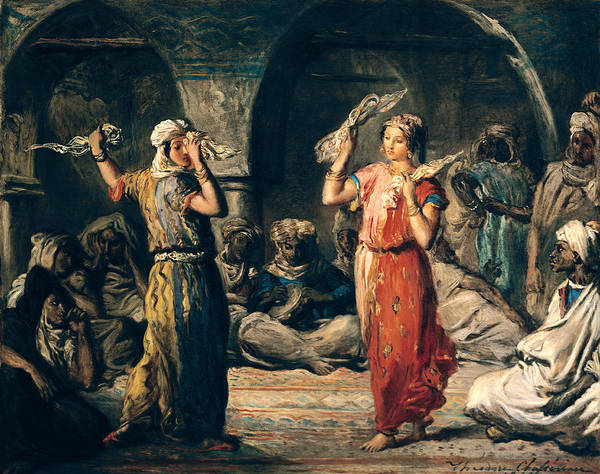 Wall Art - Photograph - Dance Of The Handkerchiefs, 1849 Oil On Panel by Theodore Chasseriau