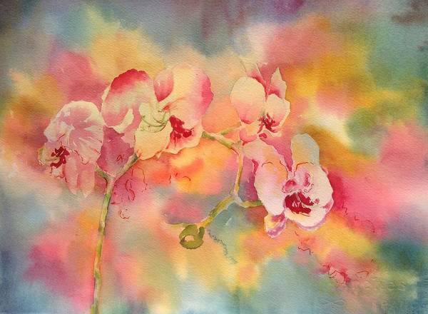 Dance Of The Orchids Art Print