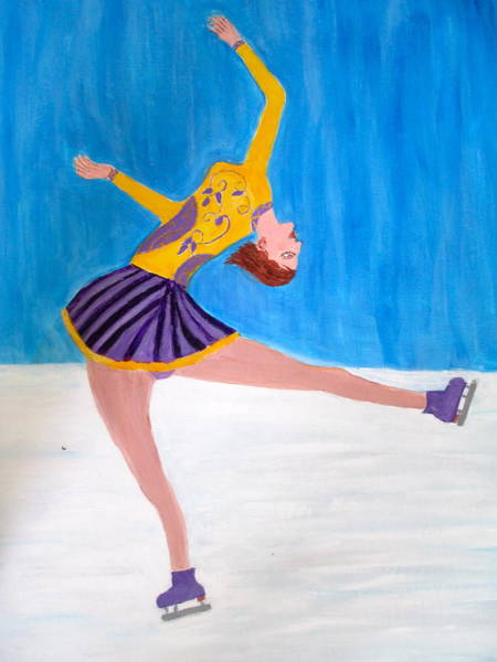 Olympic Figure Skating Painting - Dance On Ice by Vandna Mehta